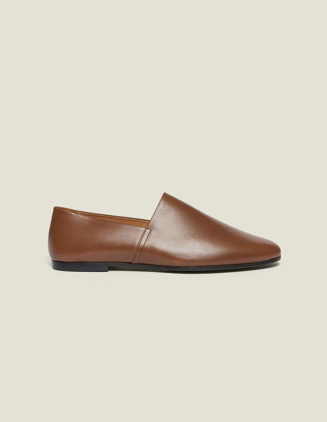Leather Slippers : All Selection color Brown