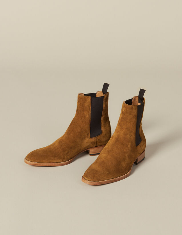 Suede Chelsea Boots : New Collection color Caramel