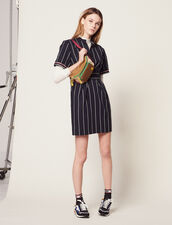 Short Dress With Stripes : Dresses color Navy Blue