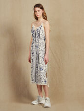 Nightie-Style Dress With Narrow Straps : Dresses color Blue