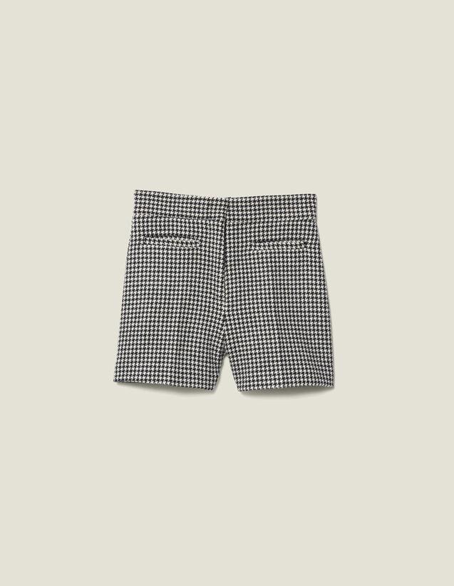 Matching houndstooth check shorts : Skirts & Shorts color Black