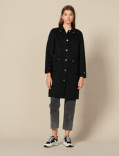 Wool coat with gold-tone press studs : Copy of VP-FR-FSelection-PAP&ACCESS color Black