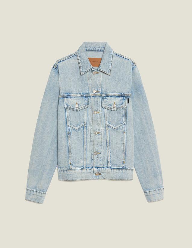Denim Jacket : Blazers & Jackets color Stone Washed