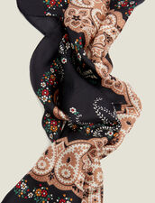 Black Silk Bandana Scarf : Scarves color Black