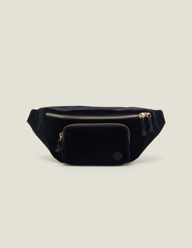 Velvet Banana Bag : All Bags color Black