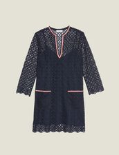 Short Guipure Dress : All Selection color Navy Blue
