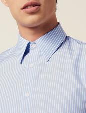Formal Striped Cotton Shirt : Shirts color Sky Blue