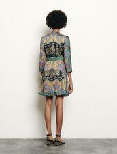 Short printed dress : Dresses color Black