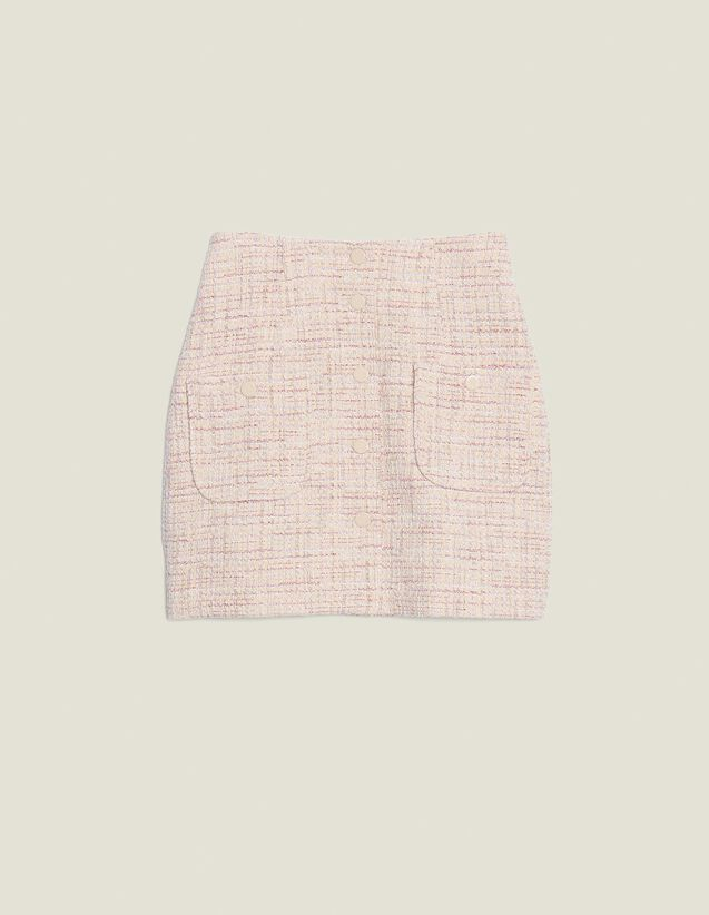 Short Tweed Skirt : All Selection color Pink
