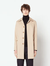 Cotton Raincoat : Trench coats & Coats color Beige