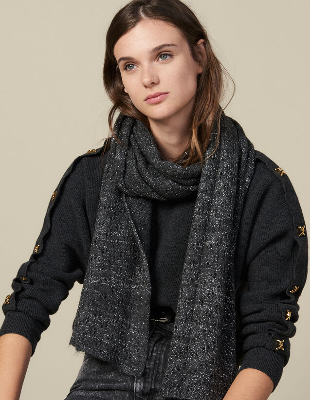 Lurex Scarf : Scarves color Black