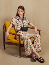 Printed Jumpsuit : All Selection color Multi-Color