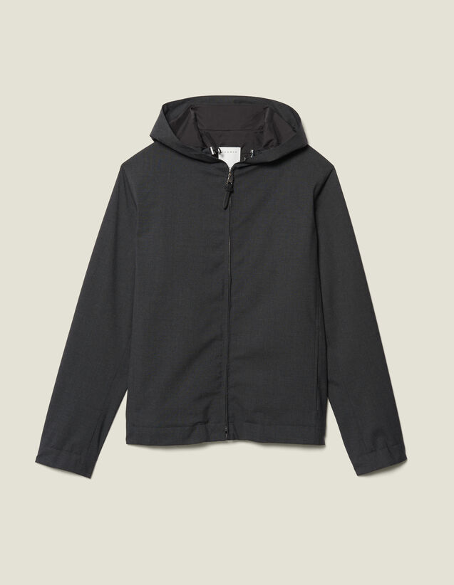 Hooded Jacket : New Collection color Charcoal Grey