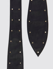 Wide Tie Belt With Studs : Belts color Black