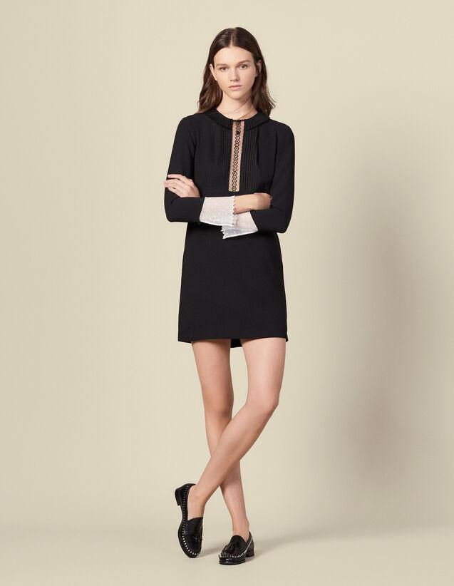 Long-Sleeved Short Dress : LastChance-ES-F40 color Black
