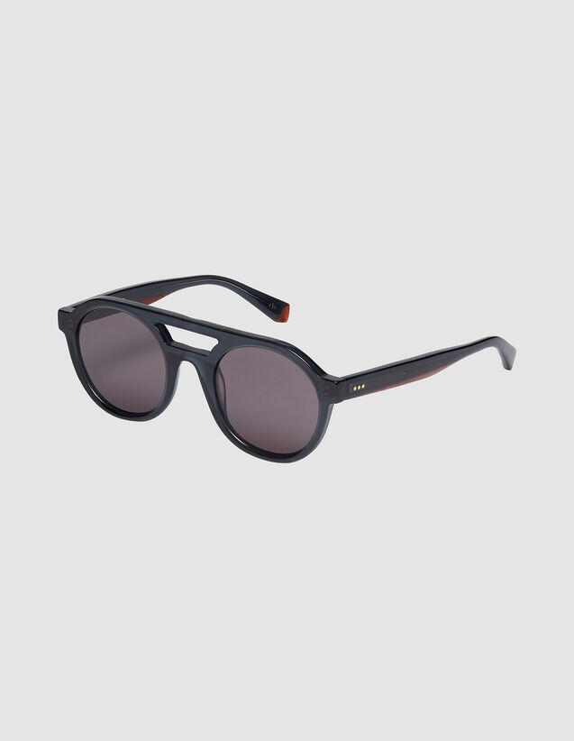 Unisex Aviator Sunglasses : Sunglasses color Gris charbon