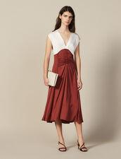Midi Dress With Pleats : LastChance-ES-F50 color Ecru