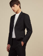 Wool Suit Jacket : Suits & Tuxedos color Black