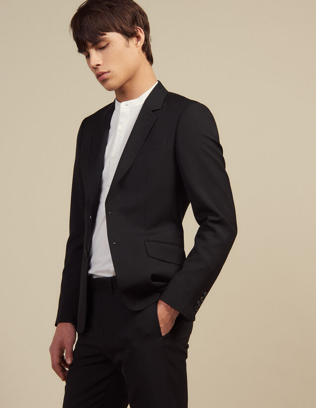 Wool Suit Jacket : All Selection color Black