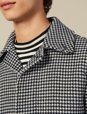 Houndstooth Coat : Trench coats & Coats color Black/White