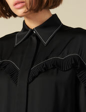 Shirt With Western-Style Cut-Outs : Tops & Shirts color Ecru