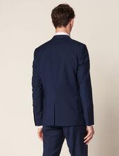 Mohair Wool Suit Jacket : Sélection Last Chance color Blue