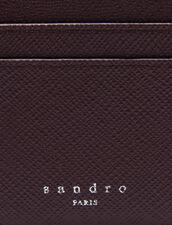 Leather card holder : Card Holders & Wallets color Bordeaux