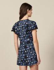 Short-Sleeved Printed Playsuit : All Selection color Blue