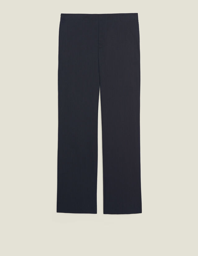 Cotton Trousers With Elasticated Waist : Sélection Last Chance color Navy Blue