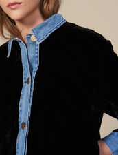 Quilted Velvet Jacket : Blazers & Jackets color Black