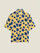 Short-sleeved printed shirt : Shirts color Yellow