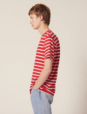 T-Shirt With Contrasting Stripes : All selection color Red