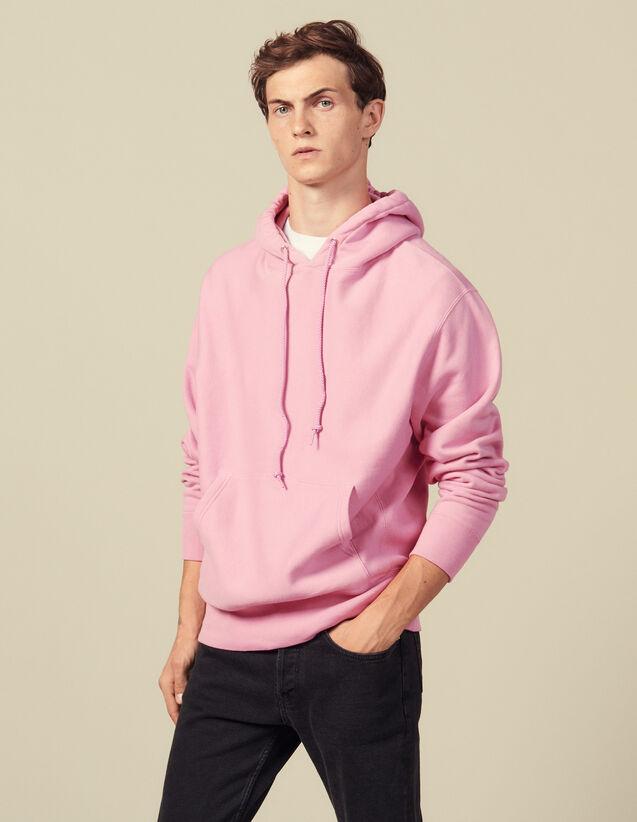 Cotton Hoodie : Sweatshirts color Pink