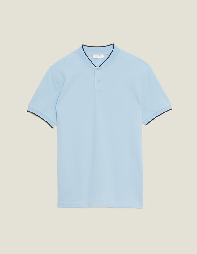 Polo Shirt With Collar Detail : Sélection Last Chance color Sky Blue