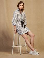 Short Lace Shirt Dress : null color Multi-Color