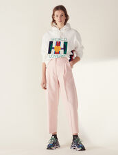 Matching 7/8-Length Tailored Trousers : All Selection color Pink