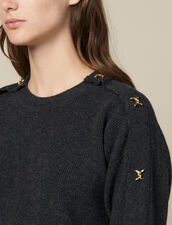 Sweater With Jewelled Buttons : LastChance-ES-F30 color Charcoal Grey