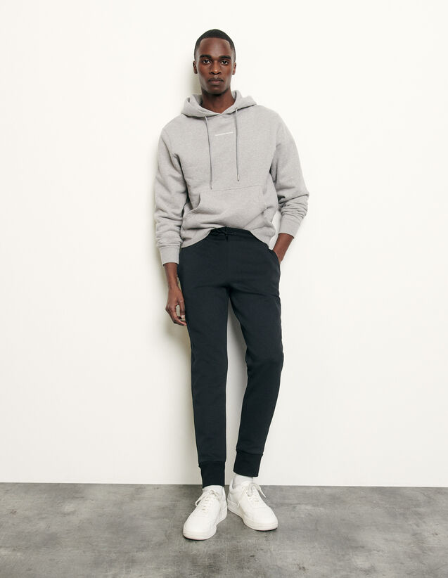 Technical fabric jogging bottoms : Pants & Shorts color Black