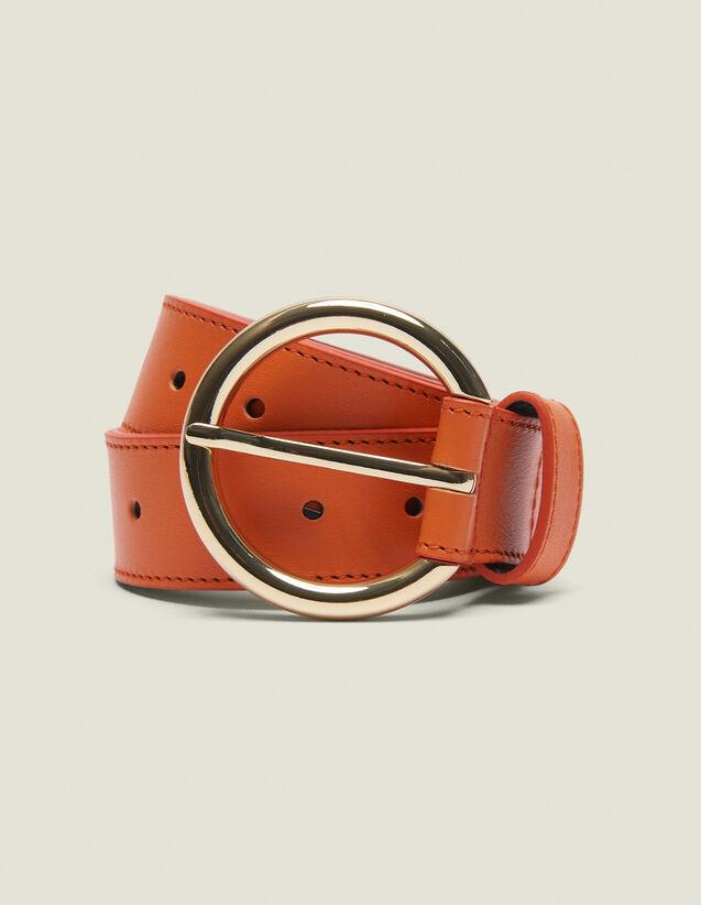 Leather Belt : Summer Collection color Orange