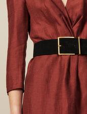 Wide Split Leather Belt : New In color Black