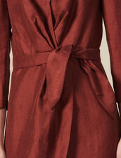 Short Wraparound Dress : All Ready-to-wear color Wine