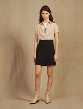 Trompe L' Œil Dress With Blouse : Dresses color Black