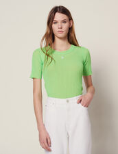 Fluorescent Knit T-Shirt : null color Vert fluo