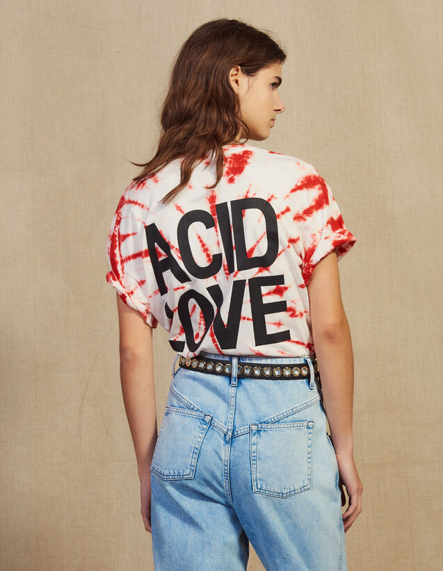 Tie-Dye T-Shirt : T-shirts color Red