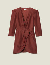 Short Wraparound Dress : Best of the season color Wine