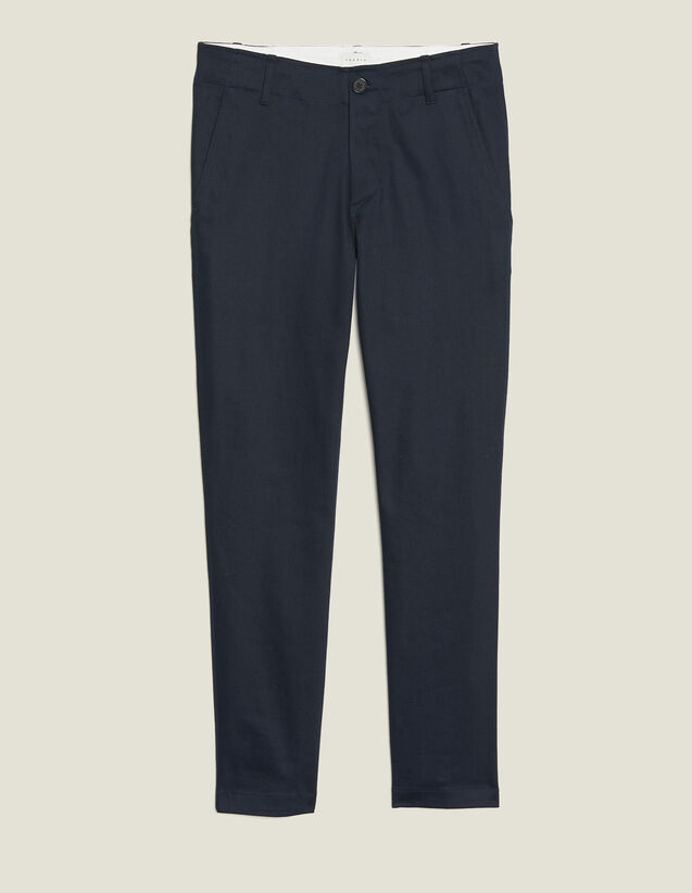 Straight-Leg Chino Trousers : Pants & Shorts color Navy Blue