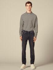 Washed Slim-Fit Stretch Jeans : LastChance-IT-H50 color Black