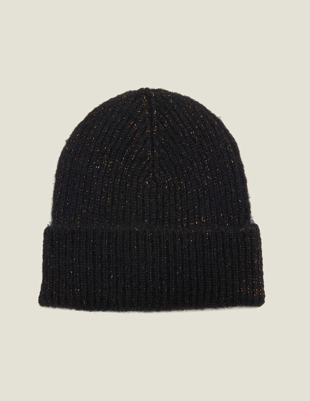 Lurex Beanie : Gloves & Hats color Black