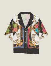 Short-Sleeved Printed Shirt : Printed shirt color Multi-Color