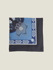 Printed Silk Scarf : null color Blue Jean